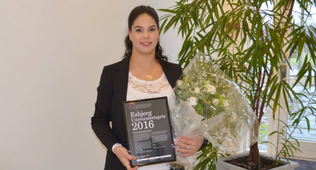 CHEMISTRY RESEARCHER FROM AALBORG UNIVERSITY ESBJERG HONORED WITH ESBJERG UNIVERSITY AWARD