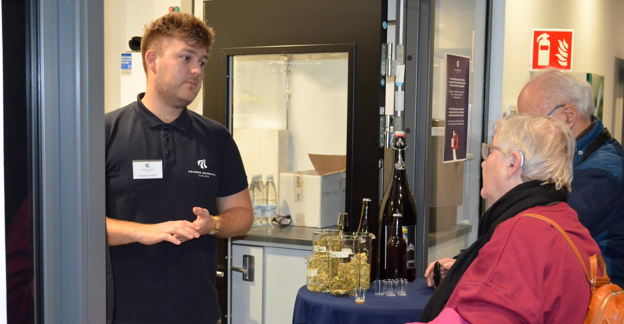 Esbjerg campus's own brewery where chemistry students brewed 20 litres of beer throughout the Open Day event